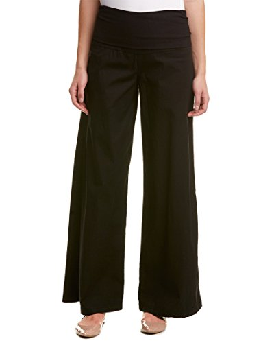 XCVI Fold-Over Palazzo Black MD (Women