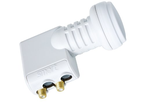 Smart Twin Universal - LNB para equipos por satélite (0.1 dB, 40 mm, 200 mA), blanco (importado)