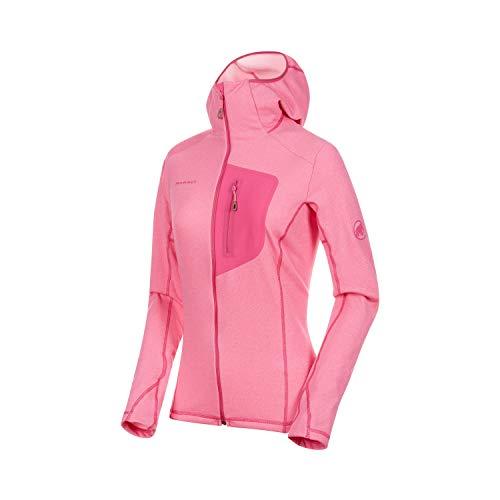 Mammut Damen Aconcagua Light Midlayer-Jacke Mit Kapuze, pink Melange, M
