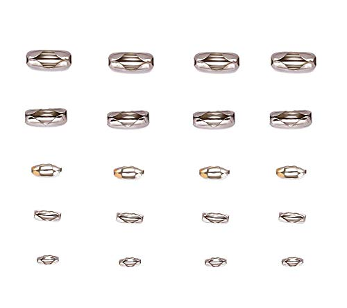 Silver Tone Stainless Steel Ball Chain Connector Clasps Fits for1.6/2/2.4/3.2/4mm Beaded Ball Chain