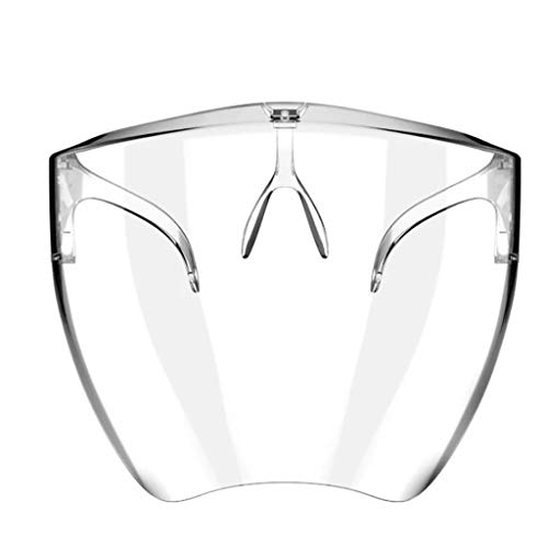 Graysky One-Piece Integrated Protective Goggles Face Shield with Glasses Full Clear Face Visor Lens,...