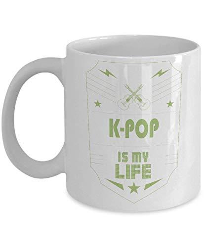 Maureen52Dorothy K-Pop Is Mijn Leven Mainstream Muziek Genre Koffie Mokken Novelty 11 Oz Wit Keramische Mok, Mok Voor Mama, Voor Papa