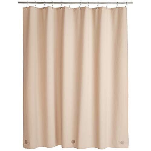 Amazon Basics – PEVA-Duschvorhang mittelschwer, Leinen, 183 x 200 cm