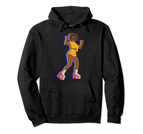 Vintage Rollschuh Mädchen Kleidung Afro 70er 80er Jahre Pullover Hoodie