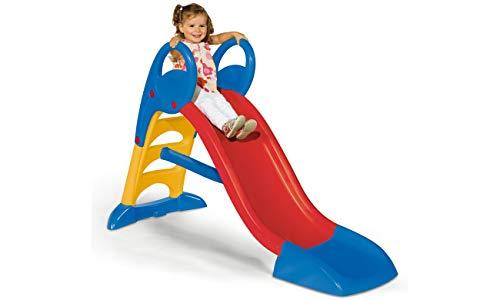 Smoby – KS Rutsche – kompakte Kinderrutsche mit Wasseranschluss, 1,5 Meter lang, mit Rutschauslauf, Verstrebung, Haltegriffen, für Kinder ab 2 Jahren