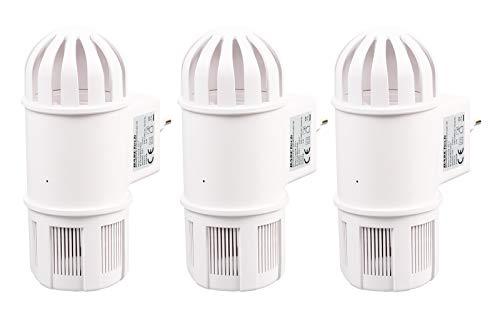 Gardigo UV-Insektenfänger 3er Set mit Ventilator-Ansaugtechnik, Insektenschutz, Insektenvernichter, Mückenschutz
