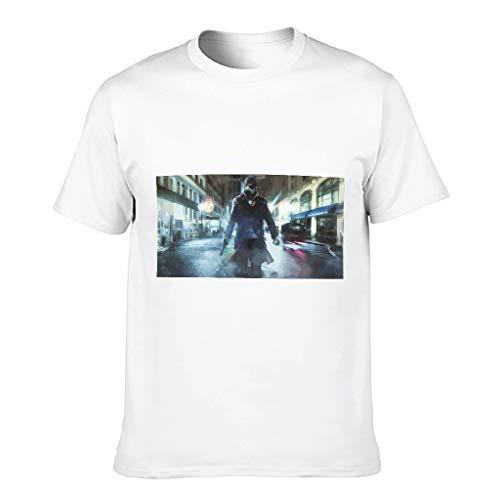 Camiseta humorística para hombre con diseño de perro reloj para adultos blanco XXXXXXL