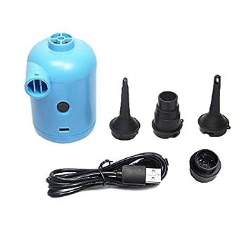 Kaimeilai Pompe à Air Électrique, 2 en 1 Bleu USB Portable Gonfleur/Degonfleur Gonfleur Electrique Multifonction Pompe Gonfleur Électrique, Pompe Électrique pour Matelas Gonflable, Jouet Gonflé