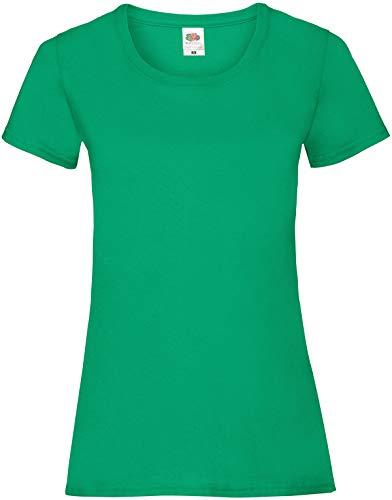 Fruit of the Loom Ss079m Camiseta, Verde (Kelly Green), Medium (Talla del Fabricante: Medium) para Mujer