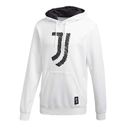 adidas Juventus FC Saison 2020/21 Juve DNA HD Kapuzenpullover Unisex Erwachsene L Weiß / Schwarz