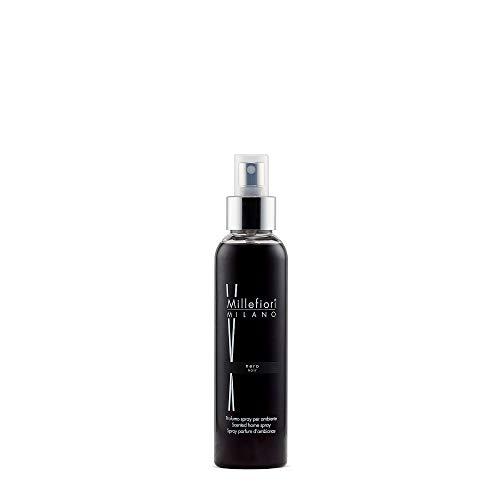 Millefiori Nero Luxuriöse Raumspray Natural 150 ml, Plastik, Schwarz, 4.6 x 4 x 17 cm