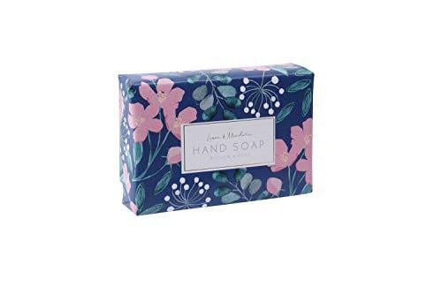 Bloemen Design Hand Verpakt Milieuvriendelijk 100% Plantaardige Saffier Paars 100g Citroen & Mandarijn Zeep Gemaakt in het Verenigd Koninkrijk | Van CGB Giftware's Willow en Rose Floral | Moederdag | GB04834
