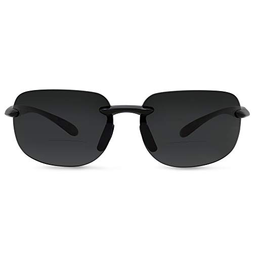 In Style Eyes Lovin Maui Wrap Premium Polarized Bifocal Sunglasses black 2.00