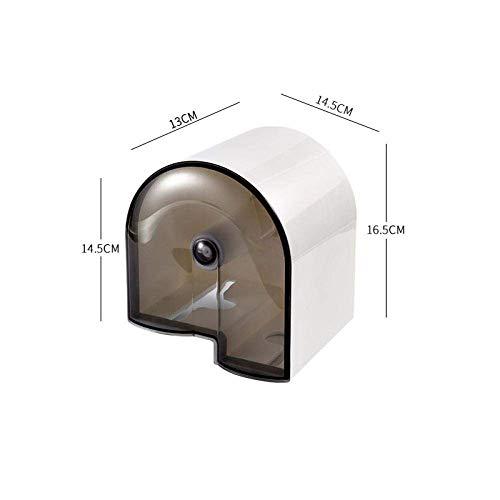 AMITD Shower Storage Shower Rack Toilet Punch-Free Waterproof Tissue Holder Toilet Waterproof Tissue Box Bathroom Wall-Mounted Carton Rack Trash Bag Storage Rack