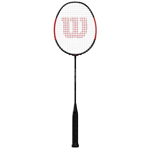 Wilson Badminton-Schläger, Blaze S2700, Unisex, Griffstärke: 4, Schwarz/Rot, Kopflastig, WRT8898004