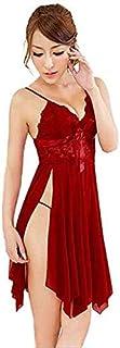 Pajamas Lace Sexy Lingerie Women's Pajamas Mesh Chemise Nighty Ladies Sheer Erotic Underwear Siamese Babydoll Teddy Softer...