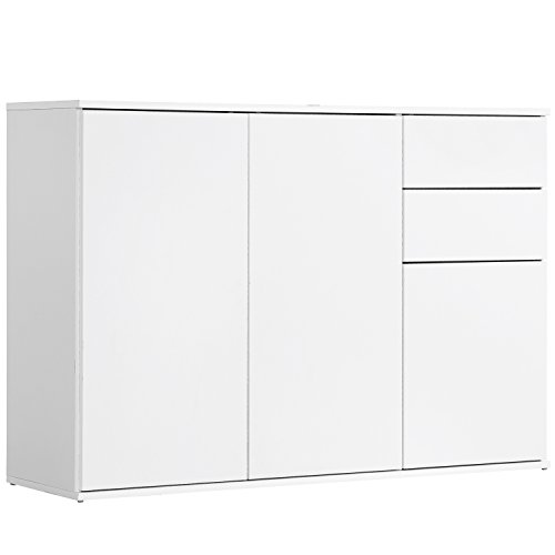 mokebo® Kommode 'Die Elegante', modernes Sideboard oder Highboard, Made in Germany & klimaneutraler Versand, Weiß -11
