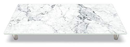 CounterArt 'Off-White Carrara Marble' Design Tempered Glass Instant Counter