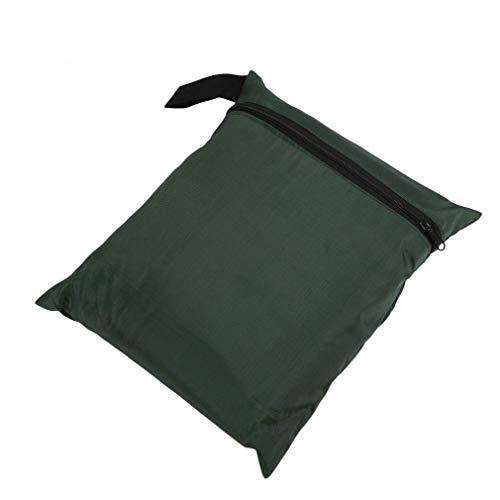 WEQQ Juego de Fundas Impermeables para Muebles de jardín y Patio para Cubo de Mesa de ratán al Aire Libre (Verde Oscuro)