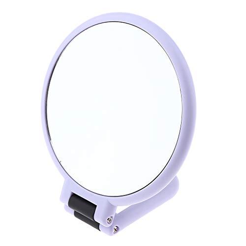 SM SunniMix Miroir de Maquillage Pliable Grossissement, Miroir de Table Double Face Rotation à 360 Degrés - Clair et Transparent - # 11 Grossissant 10x