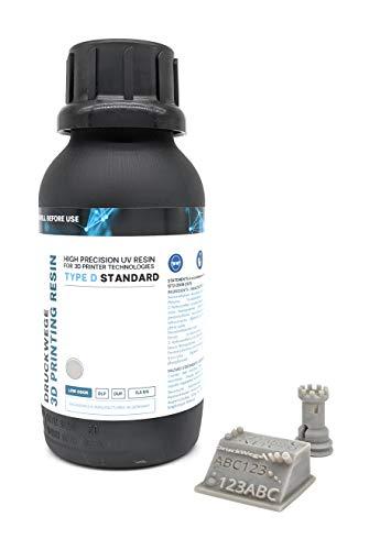TYPE D STANDARD UV DLP LCD Resin 405nm Rapid Resin für 3D-Drucker - schnelle Aushärtung, geringer Geruch - MADE IN GERMANY