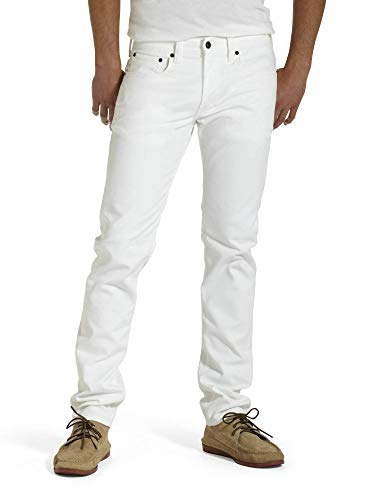 Levi's Men's 511 Slim Fit Jean, White - Stretch, 29W x 32L