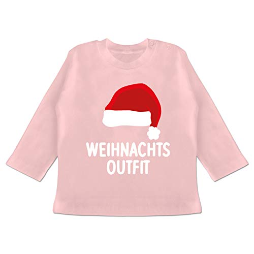 Weihnachten Baby - Weihnachtsoutfit mit Weihnachtsmütze - 3/6 Monate - Babyrosa -...