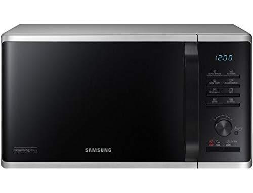 Four micro-ondes Grill Samsung MG23K3515AS - 800 W - Grill 1250 W - plateau tournant 28,8 cm - couleur silver - Décongélation Quick Defrost - Fonction maintien au chaud
