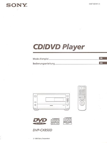 SONY DVP-CX850D CD/DVD Player. [Bedienungsanleitung (DE) / Mode d'emploi (FR)]