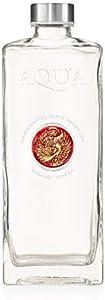 Elegante Botella de Agua de 1 litro de Vidrio Artístico Venecia con Medallones de Vidrio Murrina Artesanal y Cerámica Artesanal
