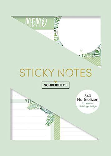 """Sticky Notes """"Tropical Moments"""": Notizzettel-Set, selbstklebende Haftnotitzen, für alle Oberflächen in 6 verschieden Motiven, 340 Sticker -SchreibLiebe"""