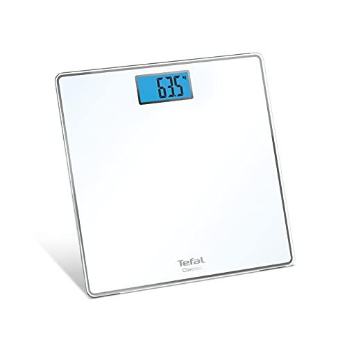 Tefal Classic PP1501V0 - Báscula (31 x 31 cm, capacidad máxima: 160 kg, graduación 100 g, pantalla retroiluminada, pilas incluidas)