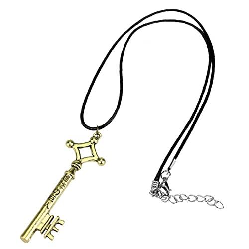 TOSSPER 1pc Collana Ewelry Attacco del Fumetto sulla Lotta Collana Corda Titan Allen Pendente Chiave in Lega Le Figure Giocattolo Regalo