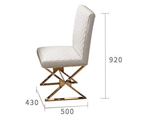 Eettafel LKU Roestvrijstalen creatieve eettafel en stoel set moderne minimalistische Nordic piano glazen model kamer, 6 stuksstoelen