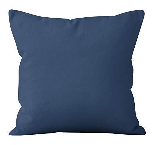 Retro flora kuddfodral blå grönt linne geometrisk soffa kuddöverdrag sovrum heminredning kuddöverdrag A24 45 x 45 cm 2 st