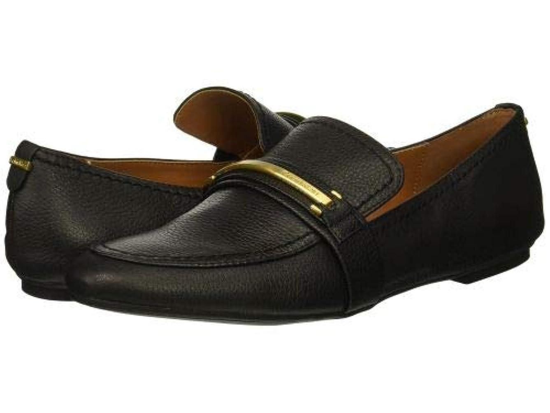 攻撃的示す床Calvin Klein(カルバンクライン) レディース 女性用 シューズ 靴 ローファー ボートシューズ Orianna - Black Pebble Grain [並行輸入品]