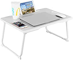 Laptop Bed Tray Table, Baodan Laptop Desk for Bed, Foldable Desk-leg Notebook Stand Dorm Desk with Handle Card Slot and...