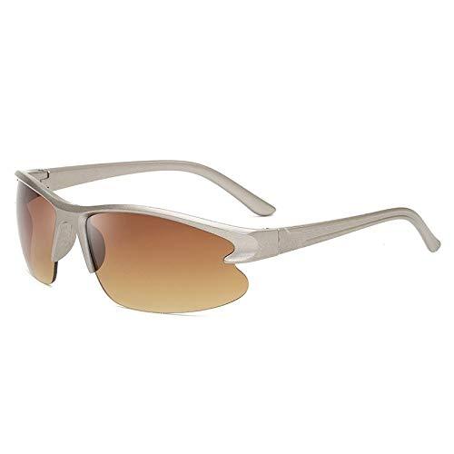 Gafas De Sol Polarizadas para Hombres Gafas De Sol Deportivas Polarizadas Montura Gris Clásica Lentes Marrones Gafas De Sol Gafas De Ciclismo para Exteriores Deportes Conducción Gafas De C