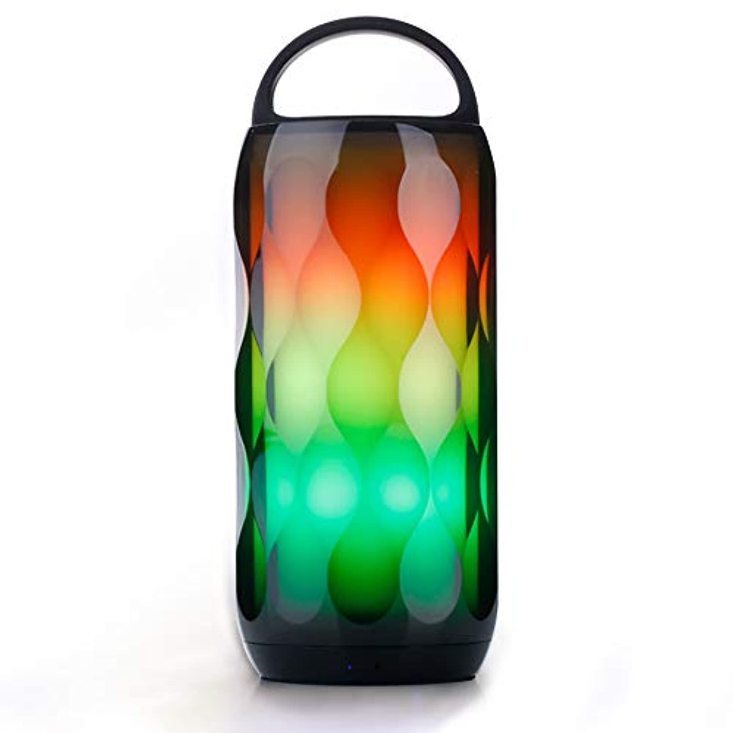 Greadio LED Bluetooth Speaker RGB Touch Night Light 5W Speaker, Portable Color Changing 6 Color Smart LED Themes Bedside Table Lamp, Speakerphone/Handsfree/MicroSD