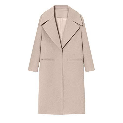 Wollmantel Damen Winter Lang Mantel Blazer Casual Business Übergangsjacke Dufflecoat Trenchcoat Outwear Kanpola