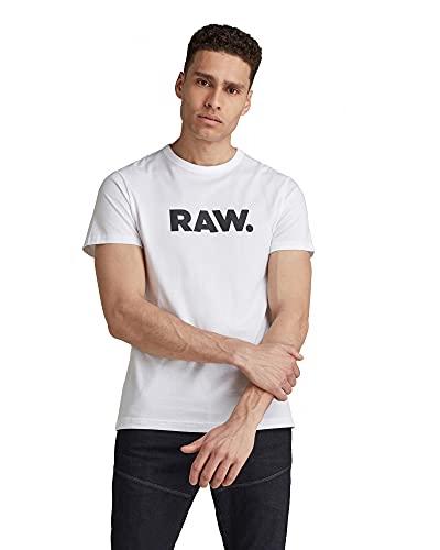 G-STAR RAW Holorn R T S/s Camiseta, Blanco (White 110), Medium para Hombre