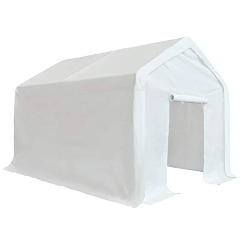 Goliraya Storage Tent Big Tent Outdoor Tent Party Tent for Outdoor Events Sturdy Frame PE 3x4 m White