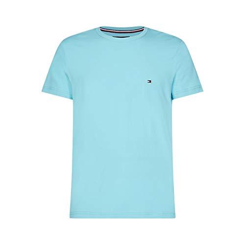Tommy Hilfiger Stretch Slim Fit Tee T-Shirt de Sport, Bleu (Blue Quartz), XX-Large Homme
