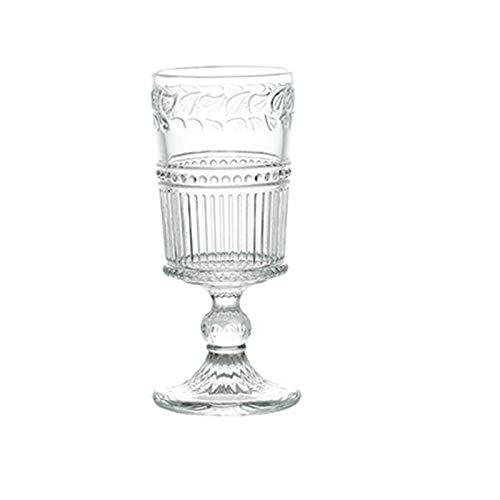 Weinglas Einfachheit 250ml Becher Hohe Kapazität Glasschale Kristallglas Taille Tasse Stemware Glas Haushalt 5.5x16.8cm MUMUJIN