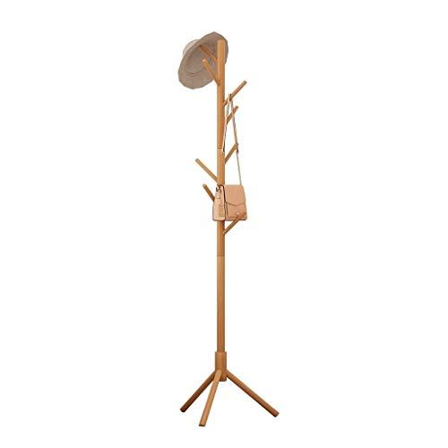Perchero de Pie Perchero de madera simple con 8 ganchos Elegante chaqueta de sombrero y colgador for suéter Fácil de ensamblar Adecuado for el lobby de la oficina doméstica y el paso de entrada Perche