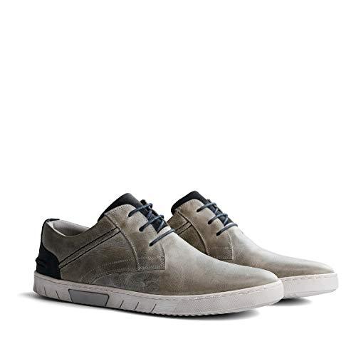 NoGRZ L.Sullivan Herren Leder Sneakers Niedrig | Hellgrau EU 45