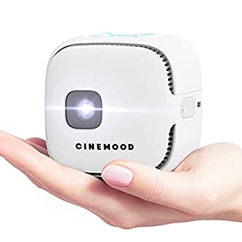 Cinemood TV - First LTE Portable Projector with Sim Card Slot for Indoor and Outdoor Movies 150   Projection Up to 3 Hours Battery Wireless Up to 256 GB Storage