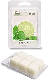 Country Jar Cool Citrus Basil Soy Wax Melt Tarts (6-Cubes) / 20% of 3 or More Sale!