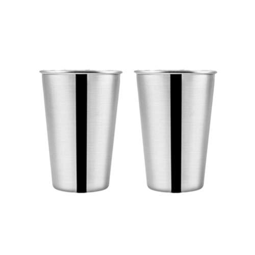 UPKOCH Vasos de agua de acero inoxidable para viajes al aire libre, 230ml, plata