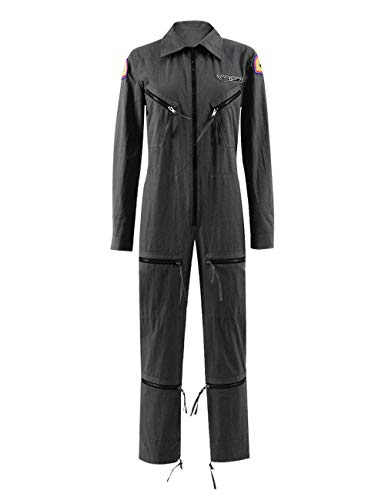 Yewei Raum Film Monster Ellen Kostüm Damen Cosplay Karneval Overall Jumpsuit Kostüm (Grau, XL)